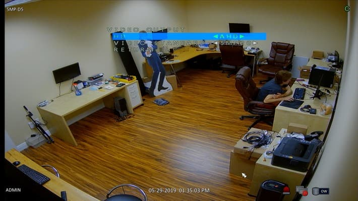 Security Dome Camera - Select Video Mode