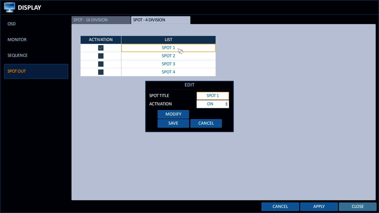 CCTV DVR Spot Monitor