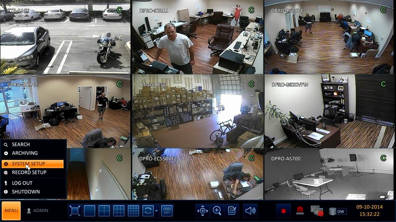 H.264 CCTV DVR Setup