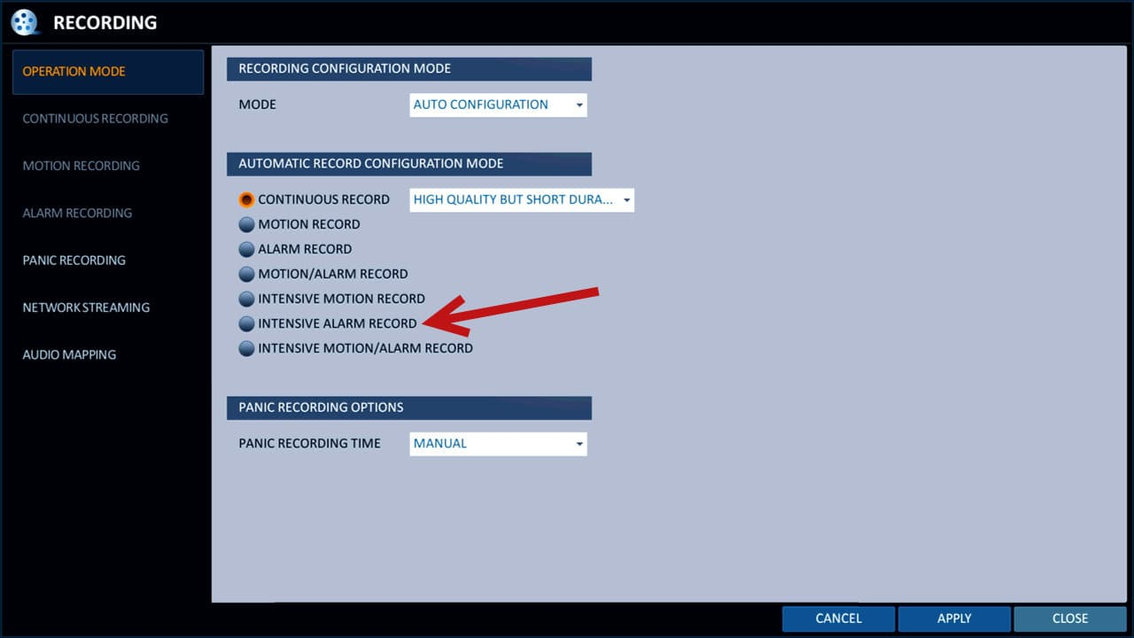 CCTV DVR Alarm Input Setup   iDVR-PRO H 264 Surveillance DVRs