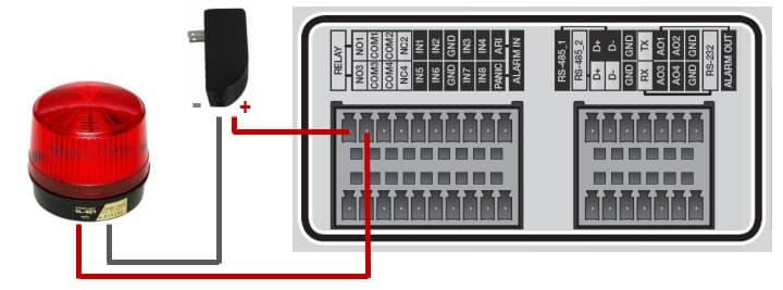 CCTV DVR Alarm Output Wiring