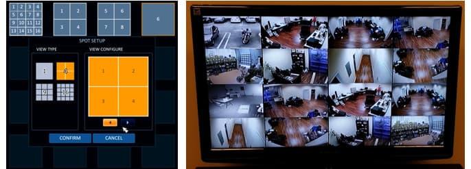 CCTV DVR Spot Monitor Output