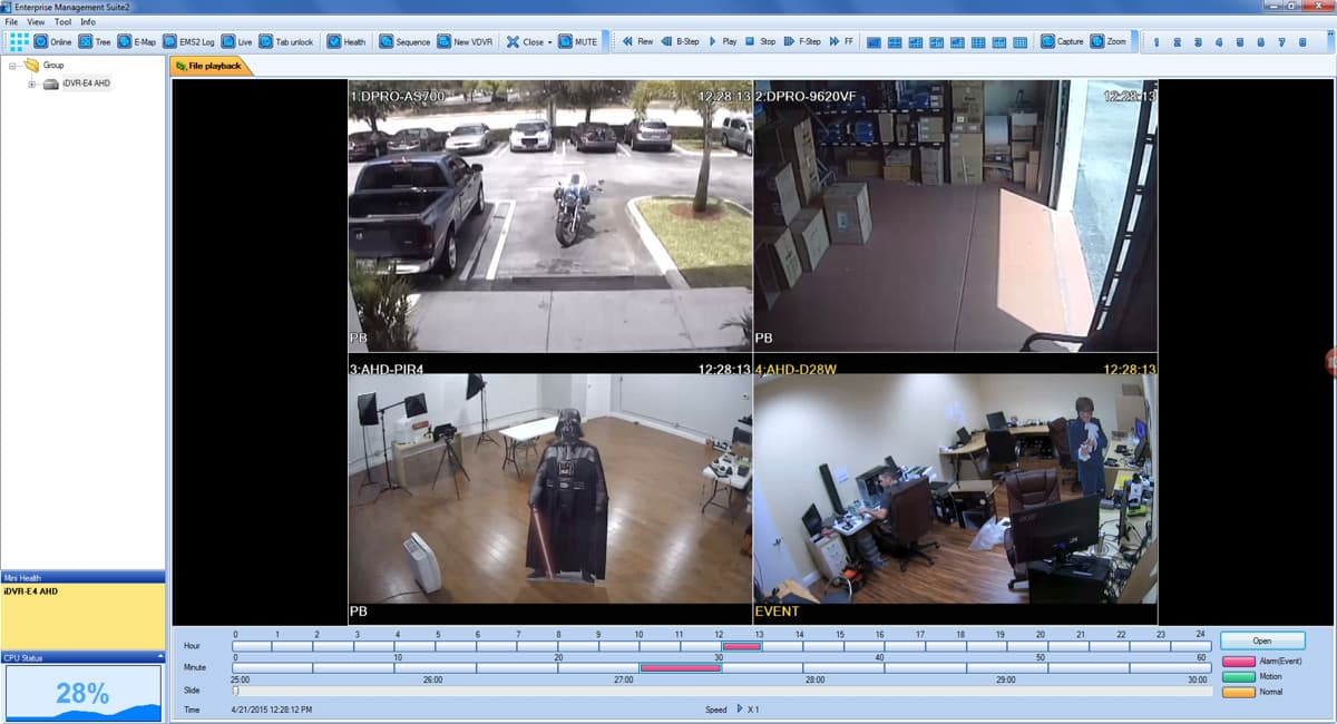 CCTV Video Archive Playback