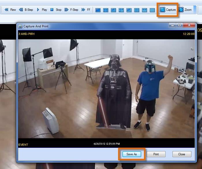 CCTV Surveillance Snapshot Image