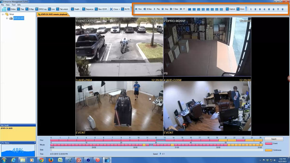 Recorded CCTV Video Playback