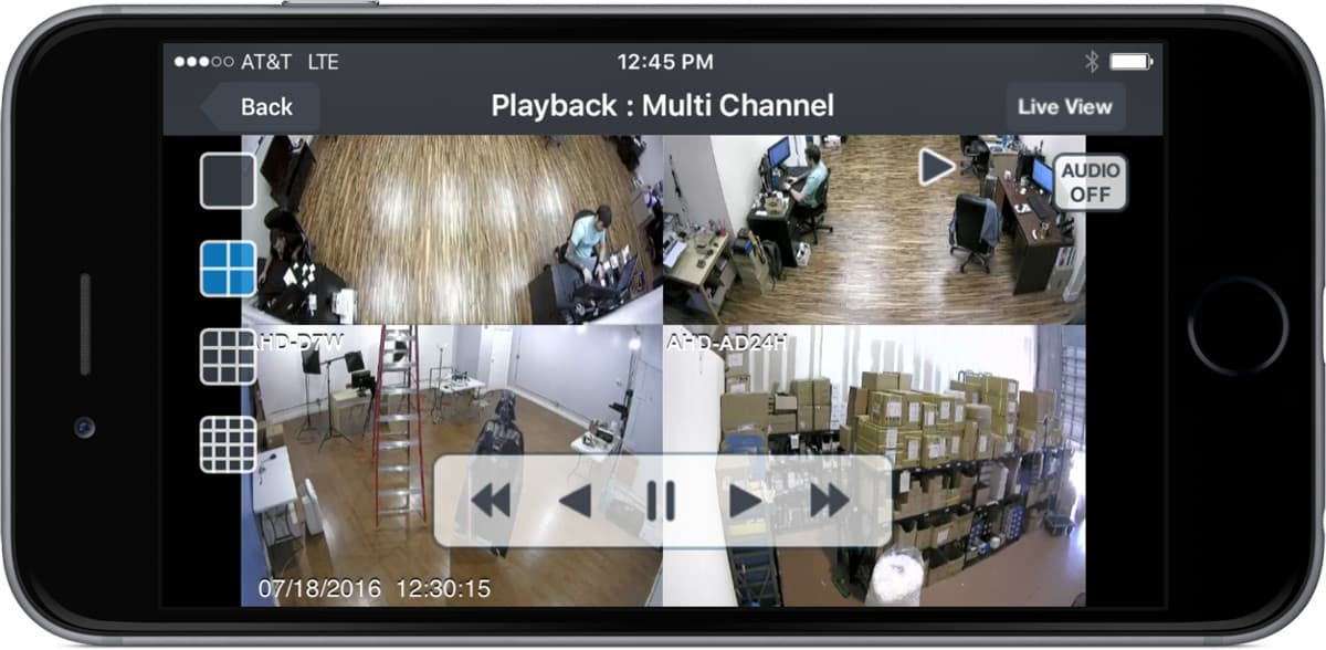 CCTV DVR- Recorded Video Playback from iPhone App