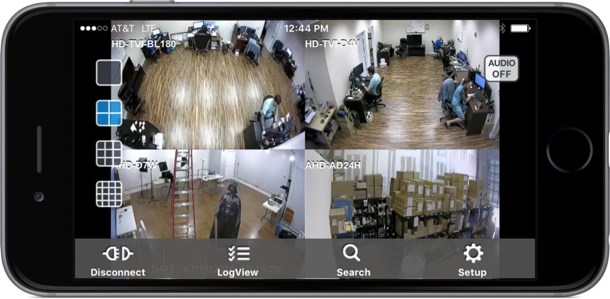 iPhone App Live Security Camera View