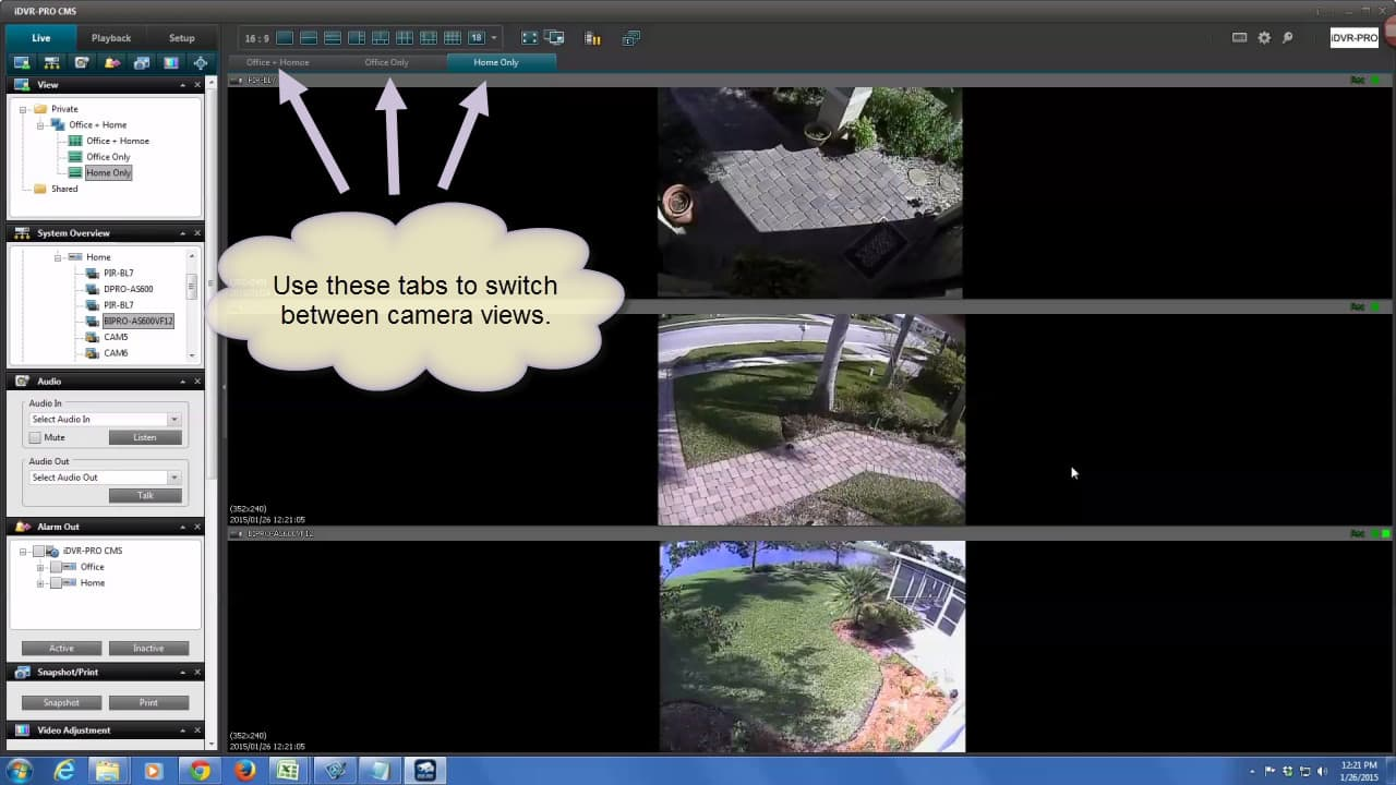Mulit-screen CCTV Camera Views