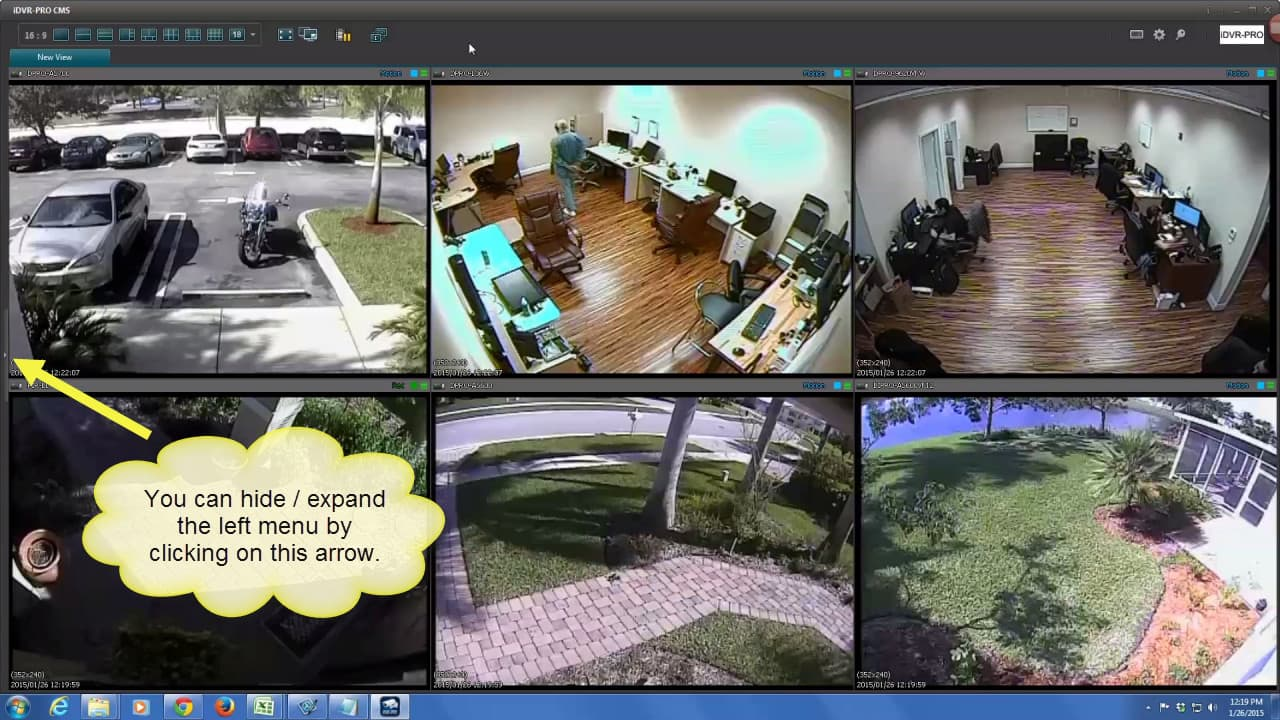 Remote Security Camera Live View Full Screen