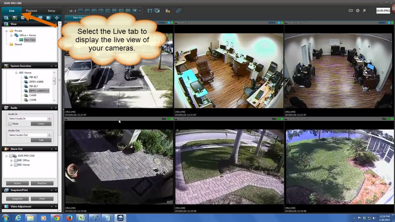 Remote Security Camera Live View
