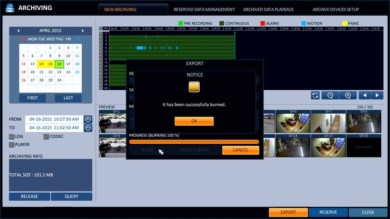 Recorded Video Surveillance Backup Export & Playback | iDVR