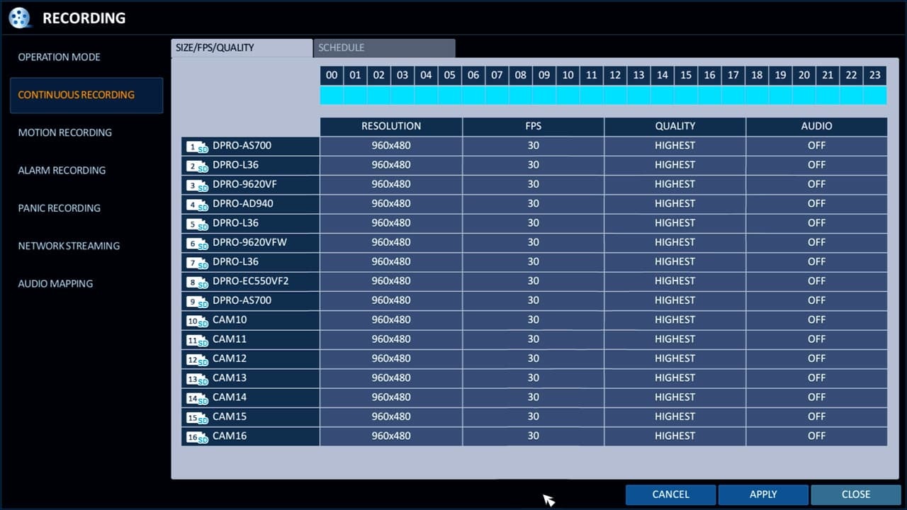 Setup Dvrs For Surveillance 960h Cctv 264 Video Idvr-pro Recording H