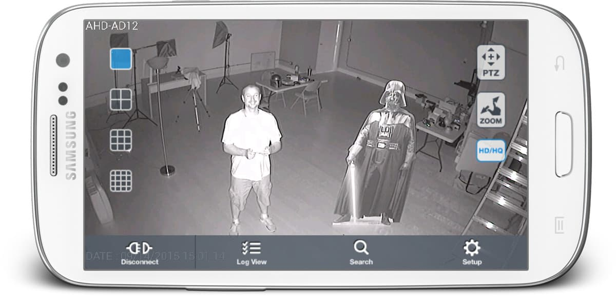 Infrared CCTV Camera View from Android App