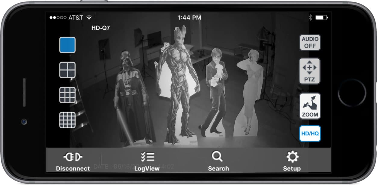 Infrared Security Camera - iPhone App View