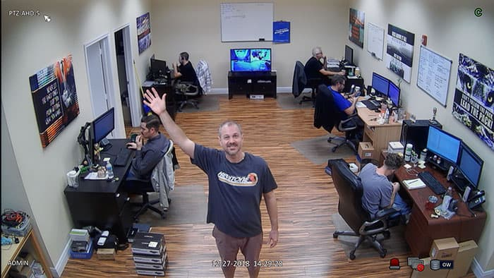 1080p Video Surveillance Image from HD PTZ Security Camera