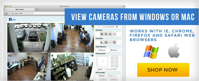 view security cameras from mac and windows
