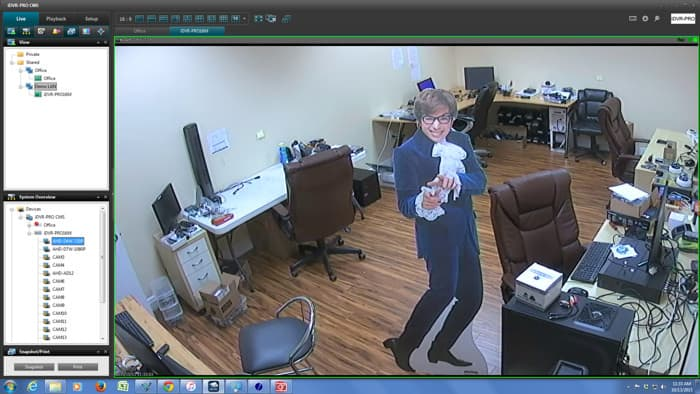 720p AHD CCTV Camera Live View via iDVR-PRO CMS Software