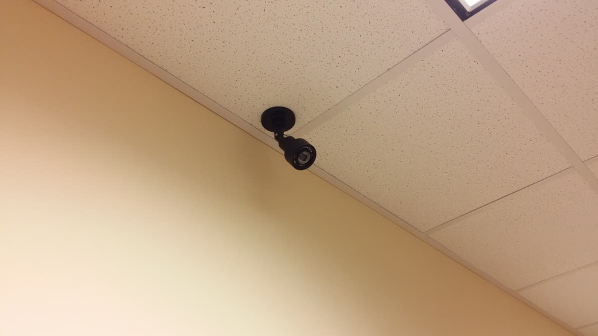 Wide Angle Security Camera - Ceiling Mount