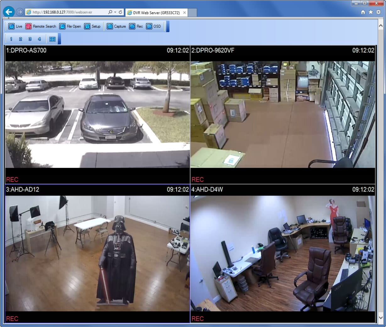 Hd security camera system for Camera it web tv