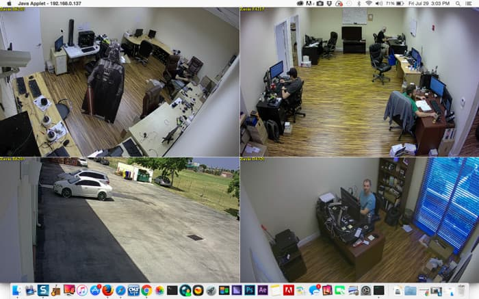Mac Live IP Camera View