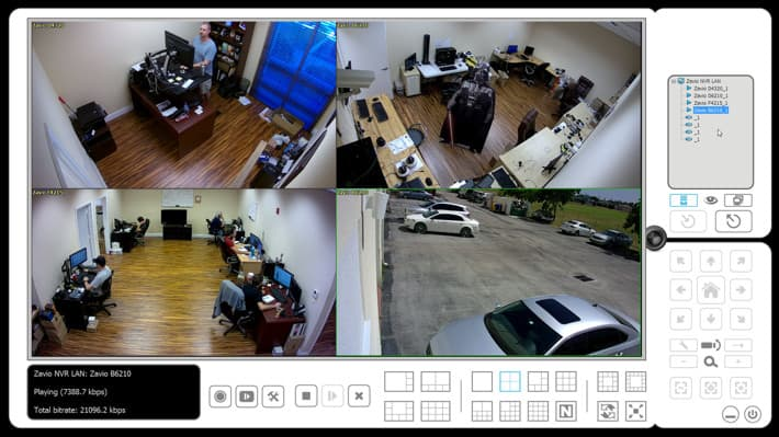 Remote Live View Software - 4 IP Cameras