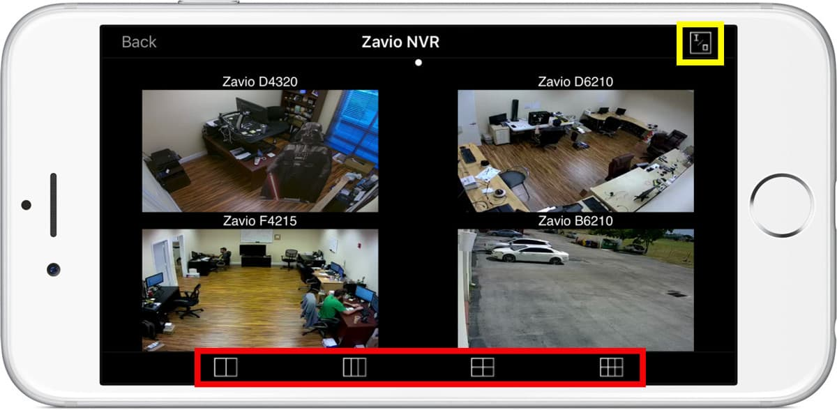 iPhone App Multiple IP Camera View