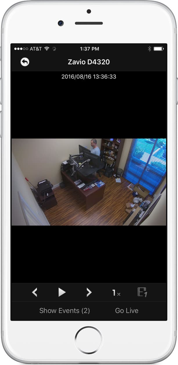 iPhone App IP Camera Recorded Video Playback