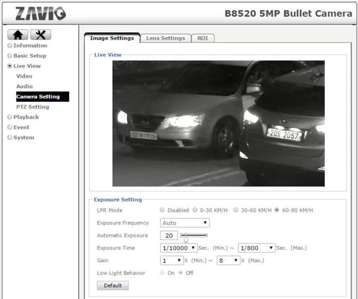 IP Camera with License Plate Recognition