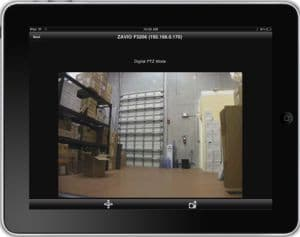 Zavio CamGraba Surveillance Software iPad App Live Camera View 2