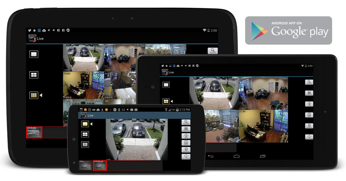 Video Surveillance DVR | CCTV / HD Security Camera DVR | Android