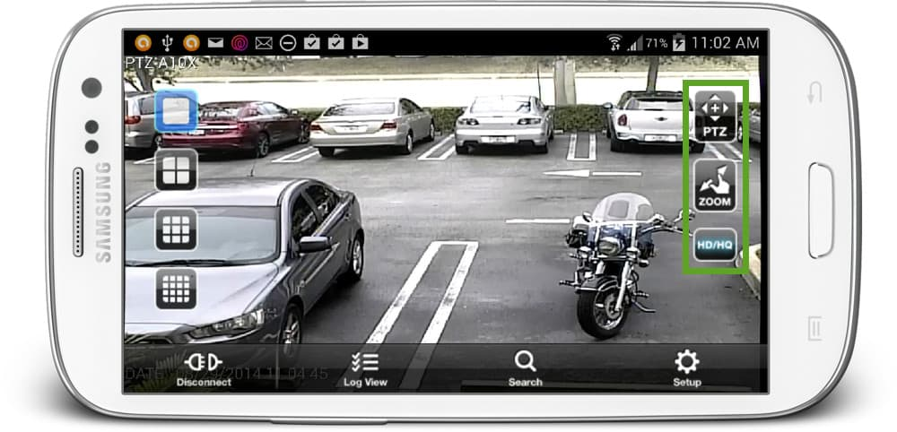 Android App HD Security Camera View