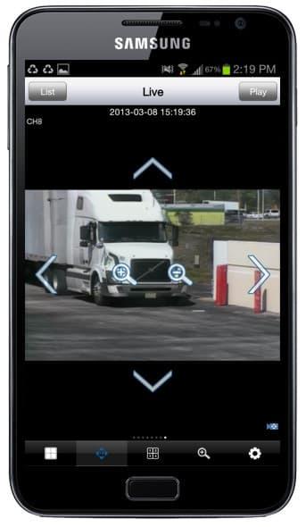Android App PTZ Camera Controls