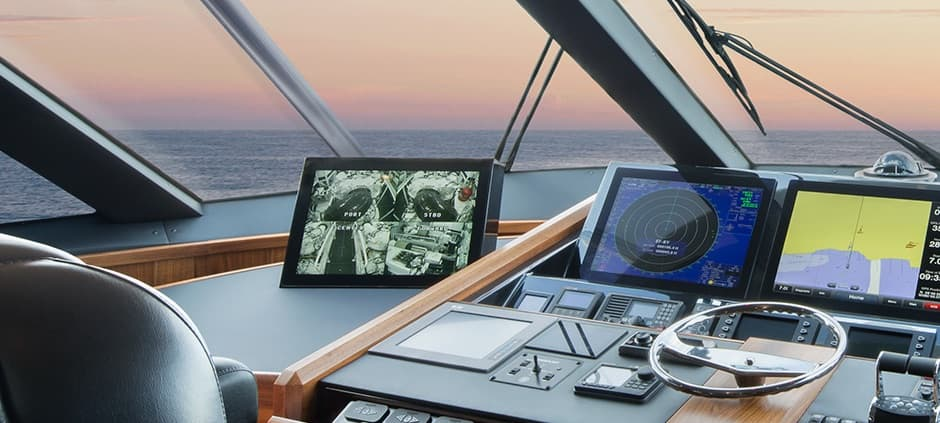 Multiple Camera Display System for Boat Cameras