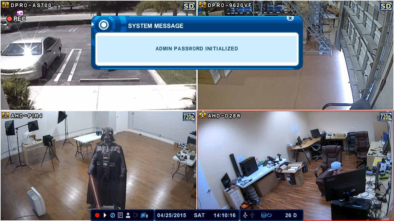Idvr Cctv Dvr Password Reset Instructions Hybrid Surveillance Wiring A Message Will Appear Confirming That The Has Been To Default Of 000000 Zeros Shown Below