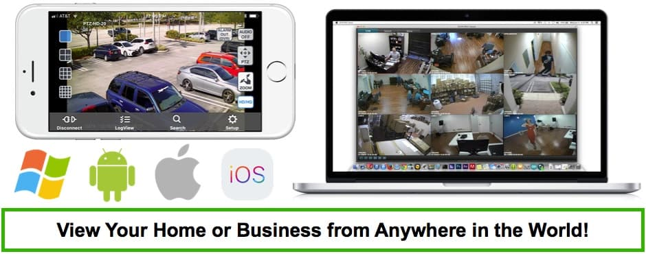 Remote View Security Cameras from iPhone Android Widnows Mac Apps