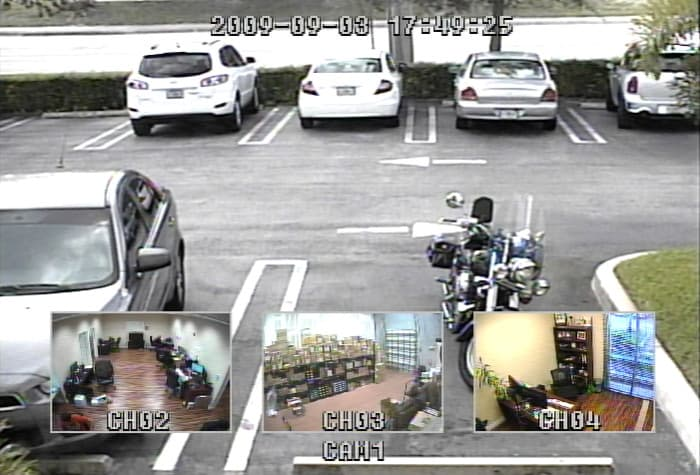 CCTV 4 Camera Quad Picture in Picture