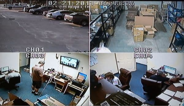 CCTV Quad Screen
