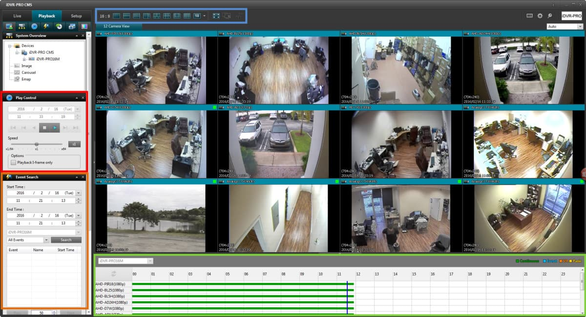 Windows Surveillance DVR Software - Recorded Video Playback