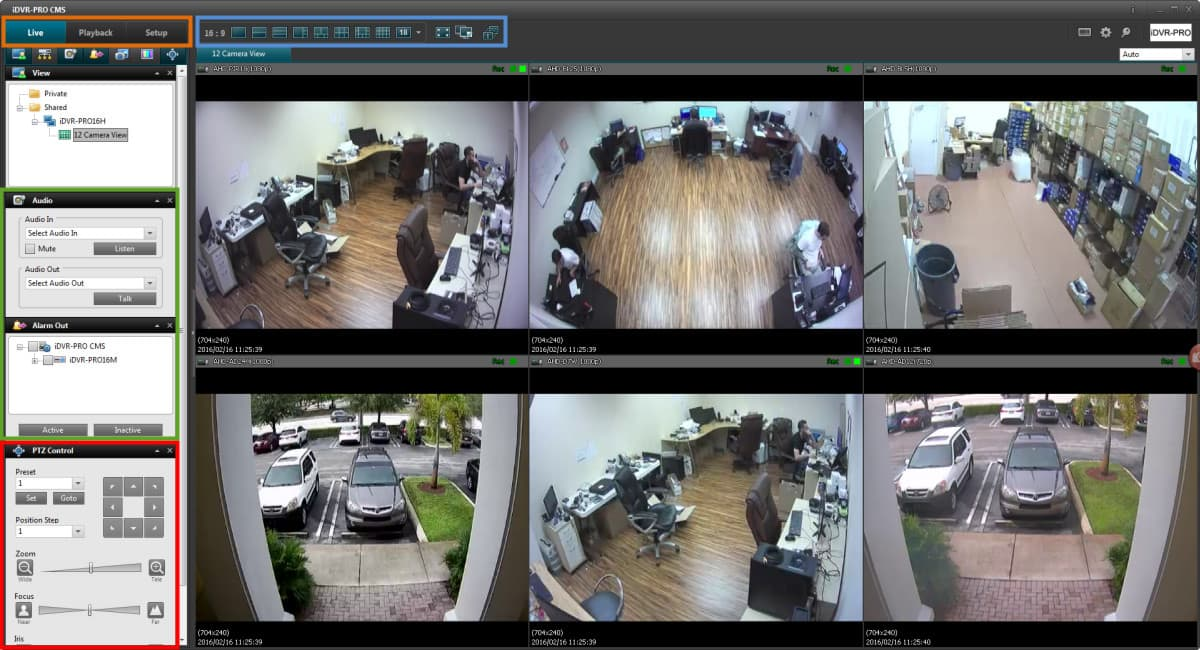 Windows CCTV DVR Viewer Software