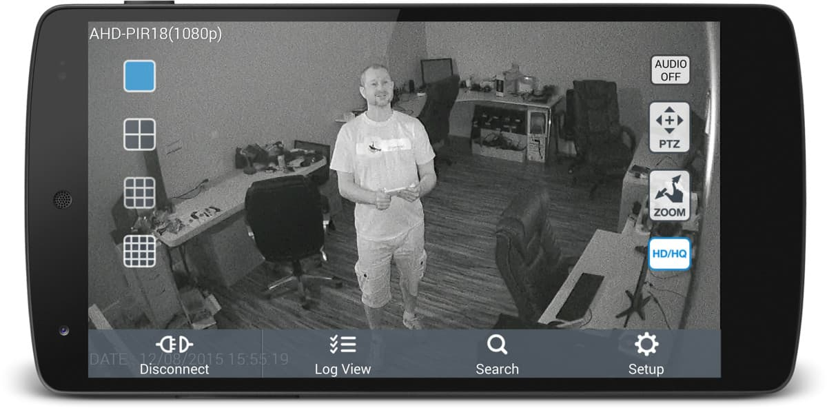 HD Hidden Spy Camera Infrared Surveillance Android App View