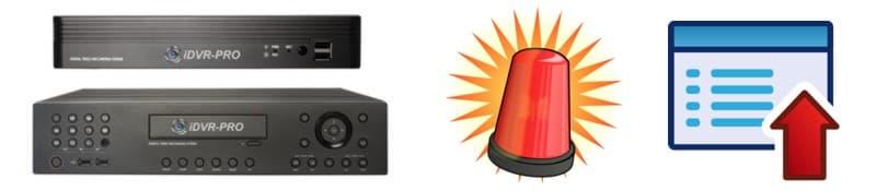 iDVR-PRO CCTV DVR Alarm Status