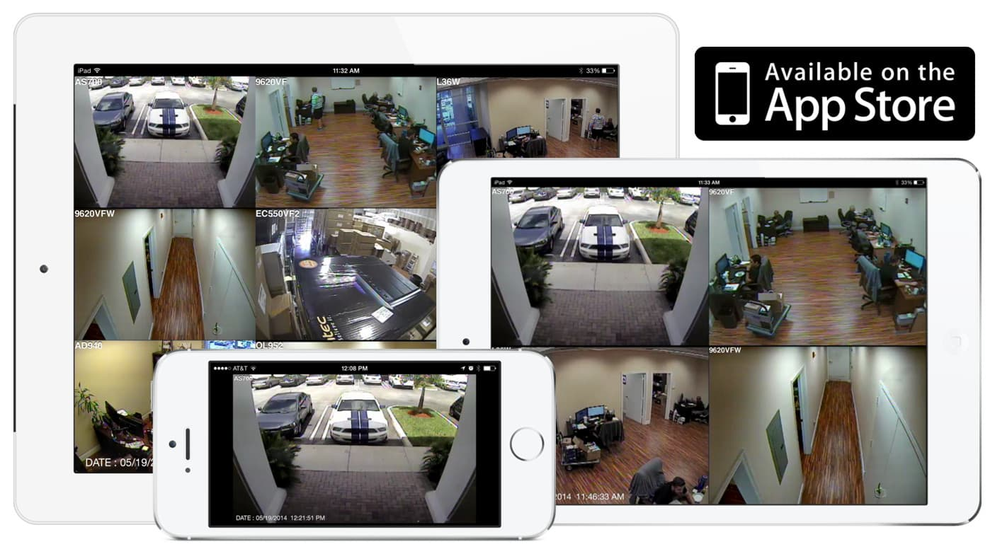 Security Camera Surveillance Mobile Home Control