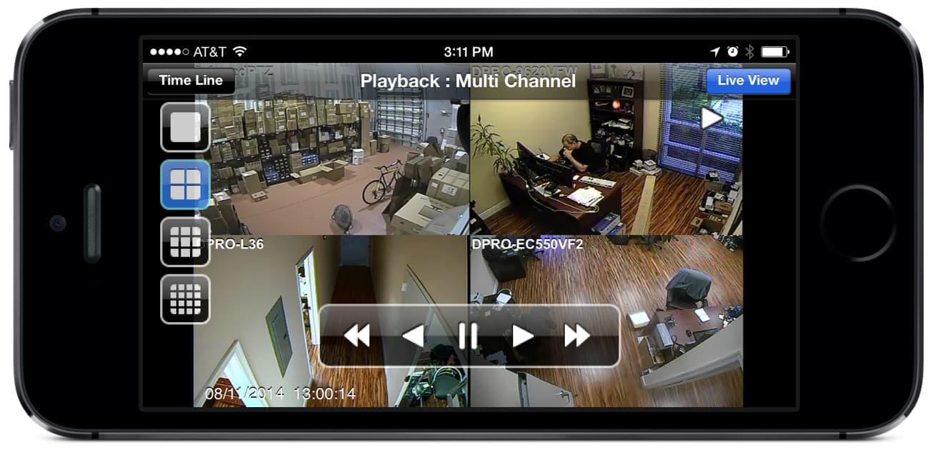 iPhone App CCTV DVR Video Playback