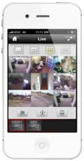 iPhone CCTV App Multi-Camera Viewer