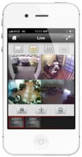 iPhone CCTV Surveillance App 4 Camera View