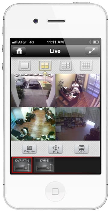 iphone app for video surveillance