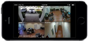 CCTV DVR iPhone app 4 camera live view
