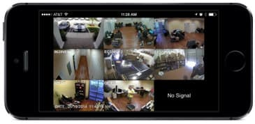 Multi-camera live surveillance view from iPhone app