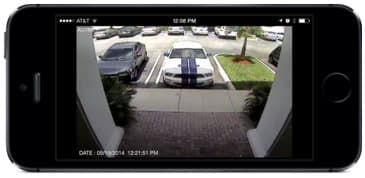 Live surveillance camera view from iPhone app