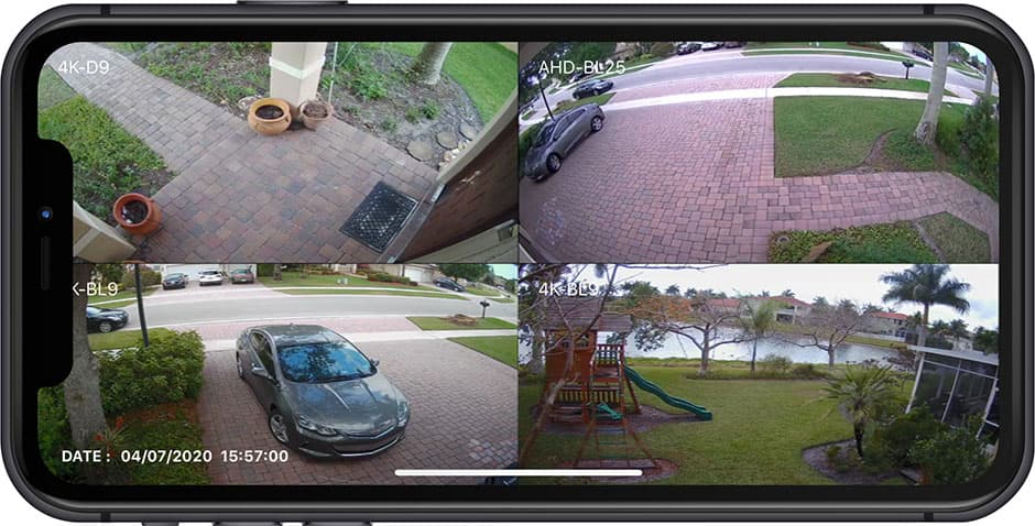 View Security Cameras from iPhone App